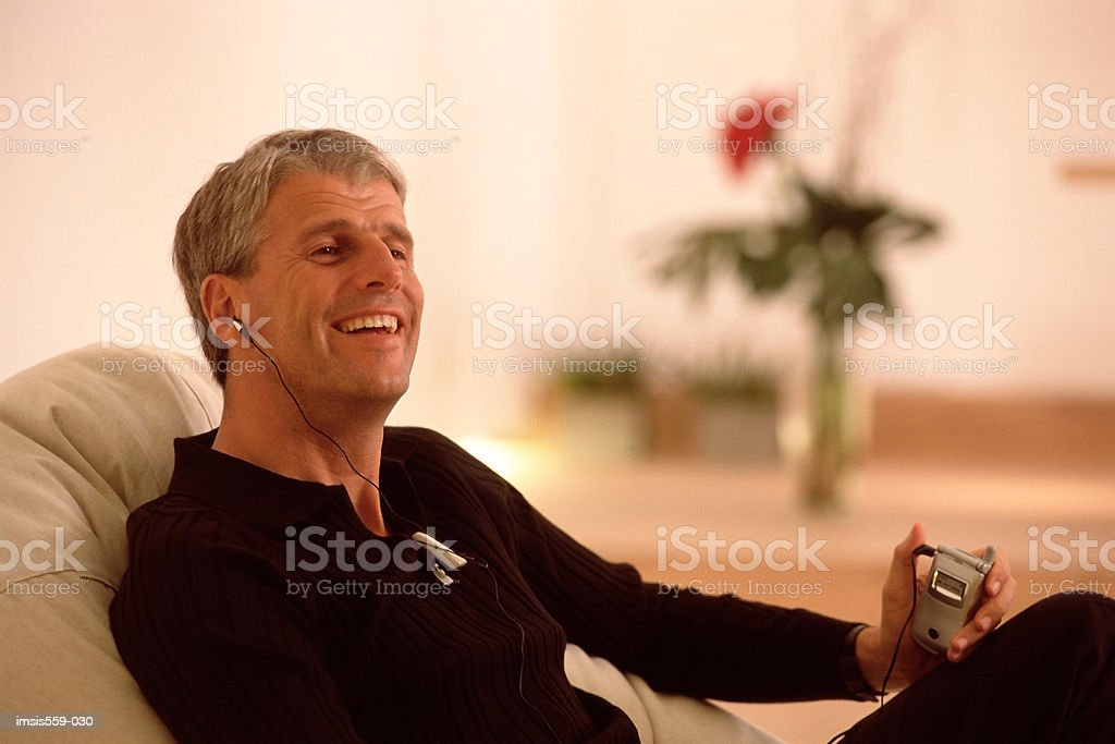 Man enjoying phone conversation royalty-free stock photo