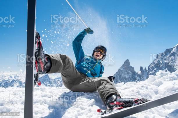 Photo of Man enjoying snow ski