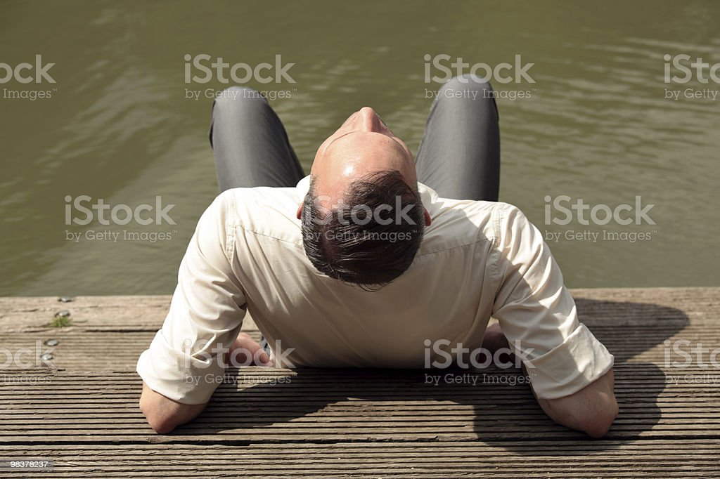 man enjoying the sun royalty-free stock photo