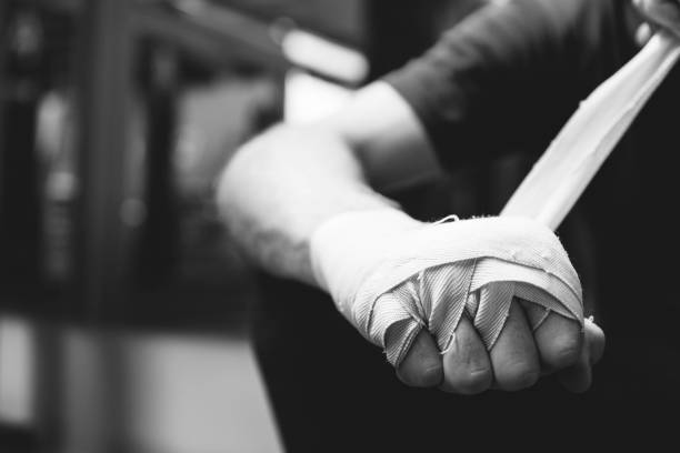 Man Exercise Athletic Boxing Concept stock photo