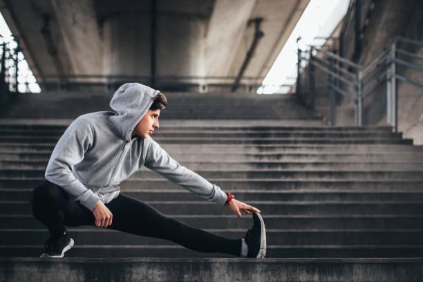 Man exercise stock photo
