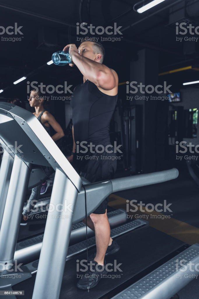 man exercising on treadmill royalty-free stock photo