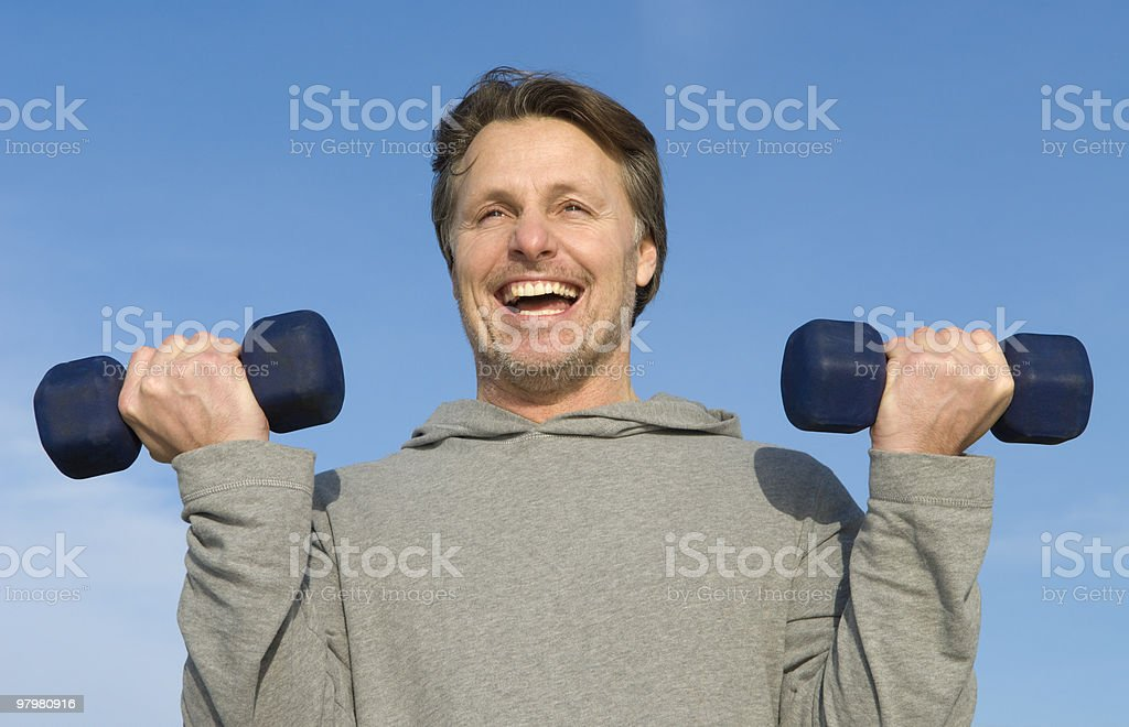 Man exercising. royalty-free stock photo