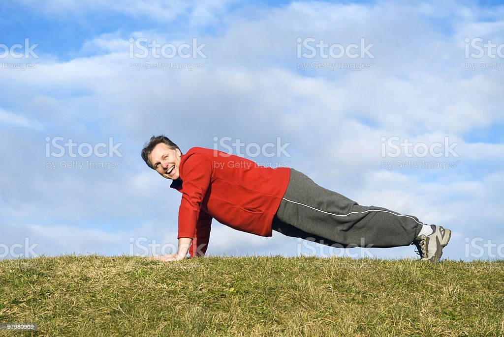 man exercising. royalty-free stock photo