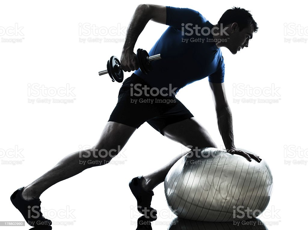 man exercising weight training workout fitness posture royalty-free stock photo
