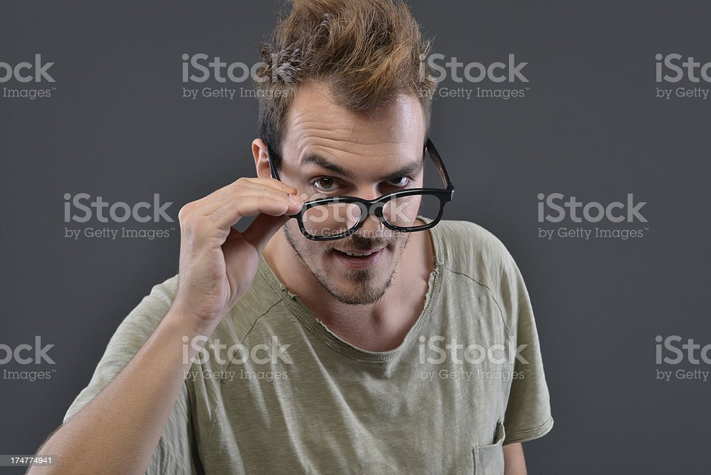 man expressions royalty-free stock photo