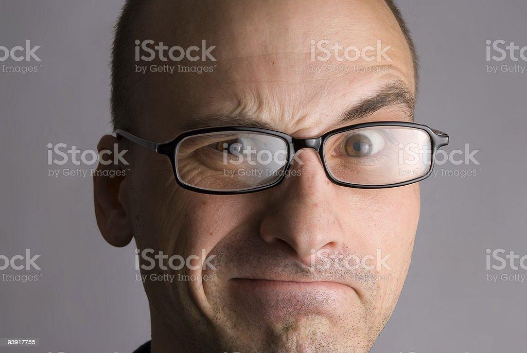 man expressive portrait royalty-free stock photo