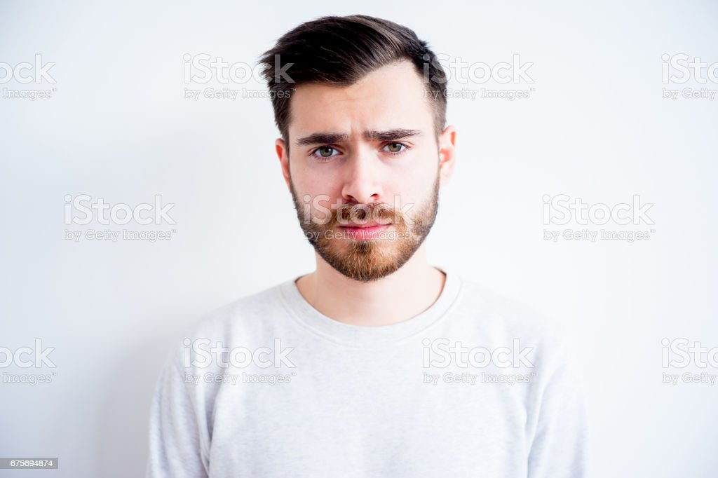 Man face expressions royalty-free stock photo