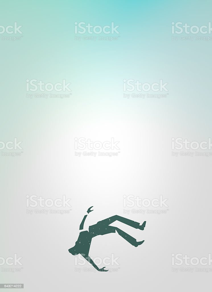 Man Falling Design stock photo