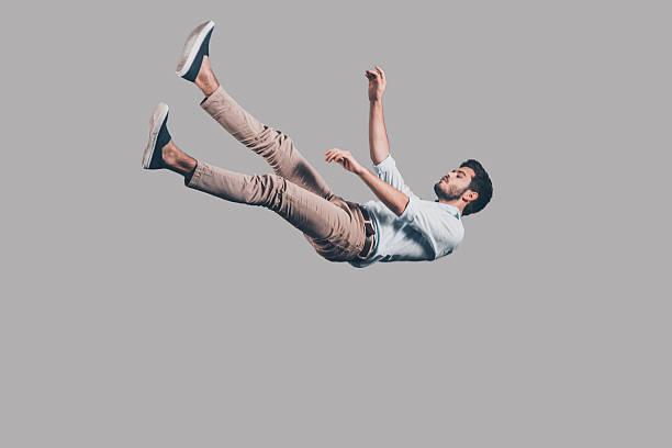 Man falling down. stock photo