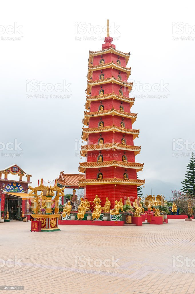 Man Fat Tse (Ten Thousand Buddhas Monastery) Sha Tin ,China stock photo
