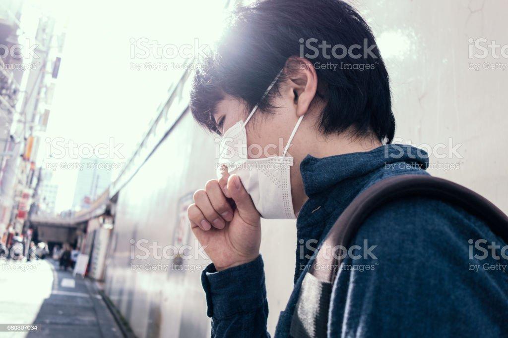 Man feeling bad stock photo