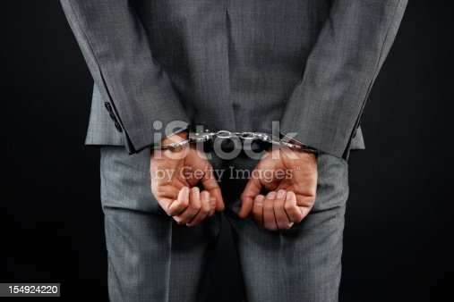 istock Man feeling trapped by corporate 154924220
