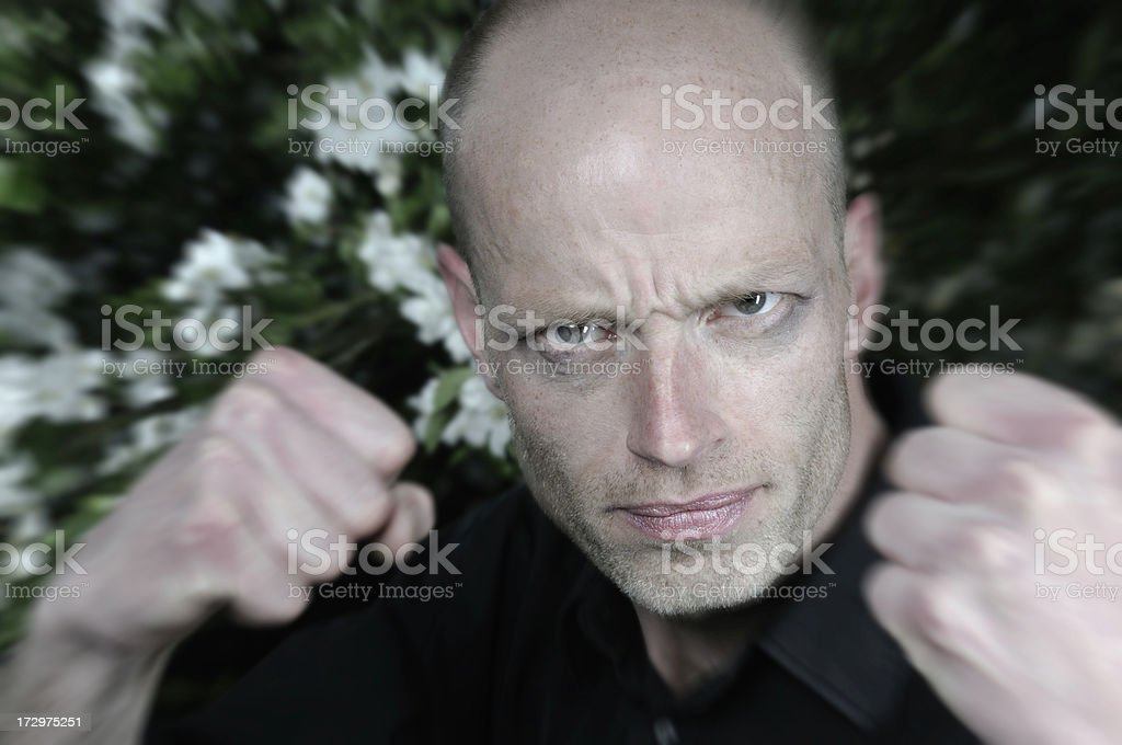 man fight action royalty-free stock photo