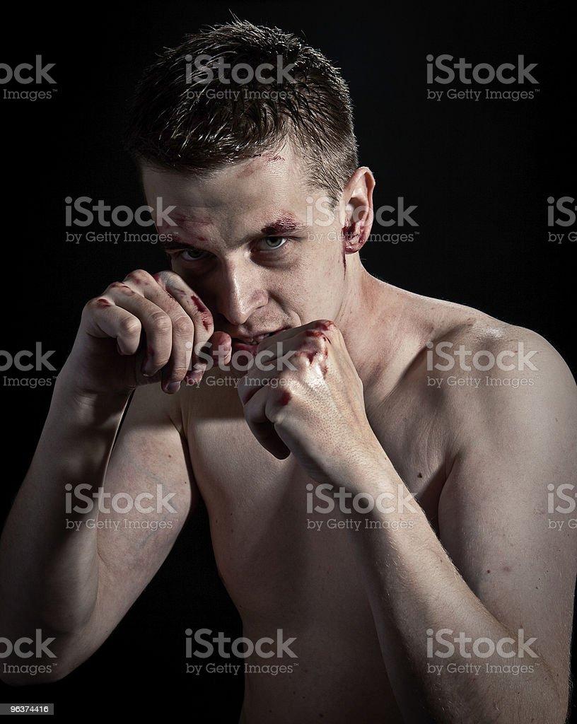 Man fighting royalty-free stock photo