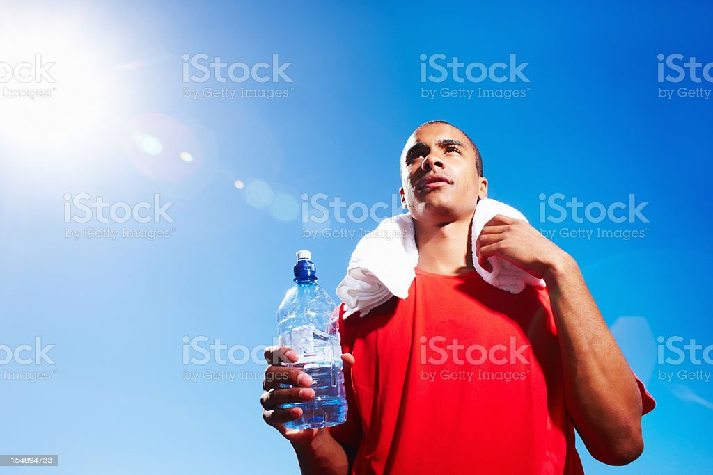 Man finished with his workout royalty-free stock photo