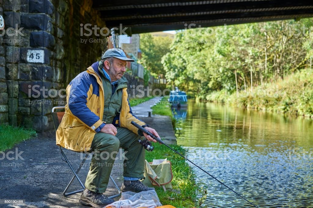 Man Fishing stock photo
