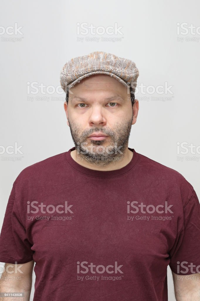 Man Flat Cap stock photo