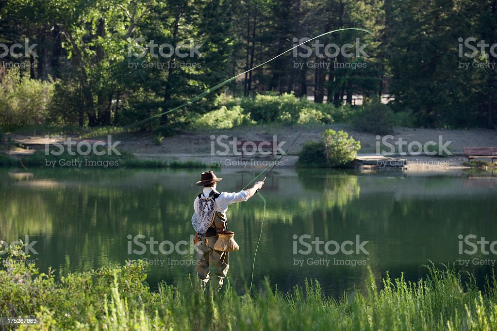 A man fluff aging in New Mexico royalty-free stock photo