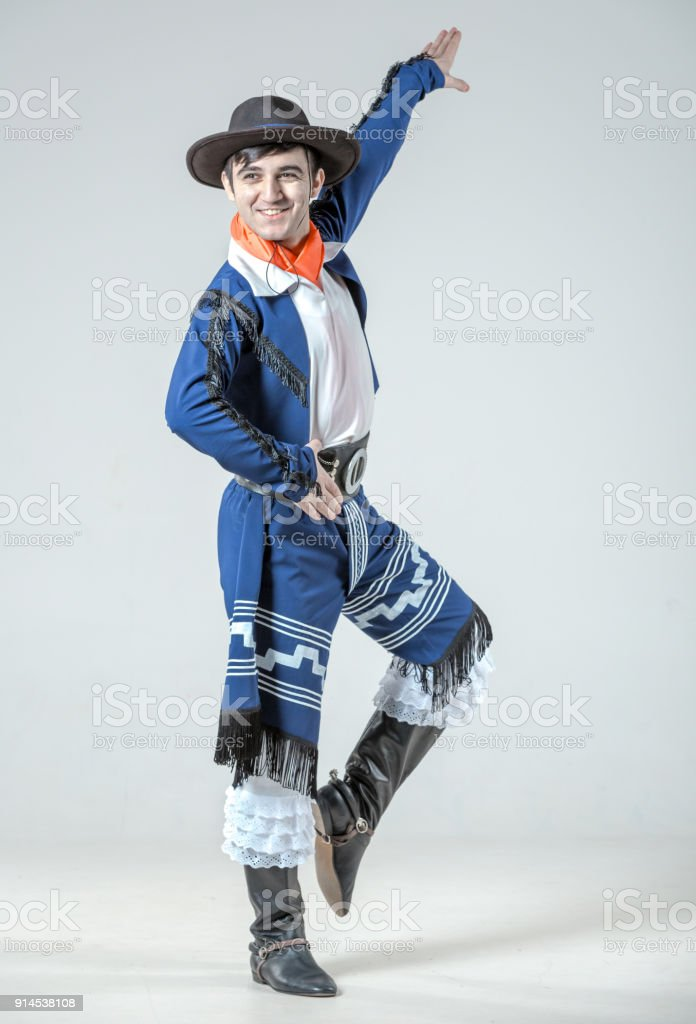 Man Folk Dancer stock photo