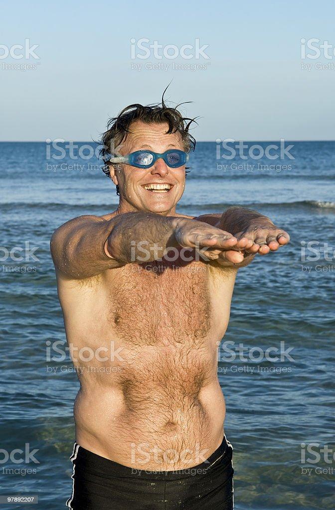 Man fooling around. royalty-free stock photo