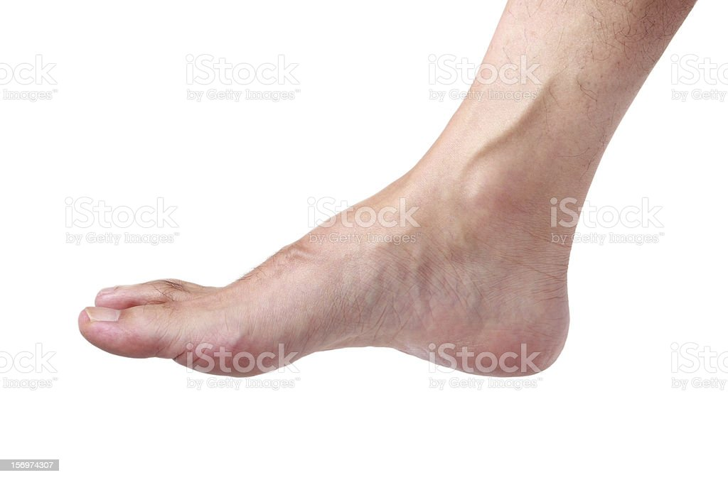 Man foot stock photo