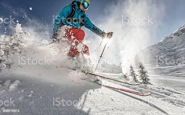 Man freerideer running downhill picture id506515974?b=1&k=6&m=506515974&s=612x612&h=9xsm7ajuicejpbp76xyijyyse4dxdnrnfealtxagom4=