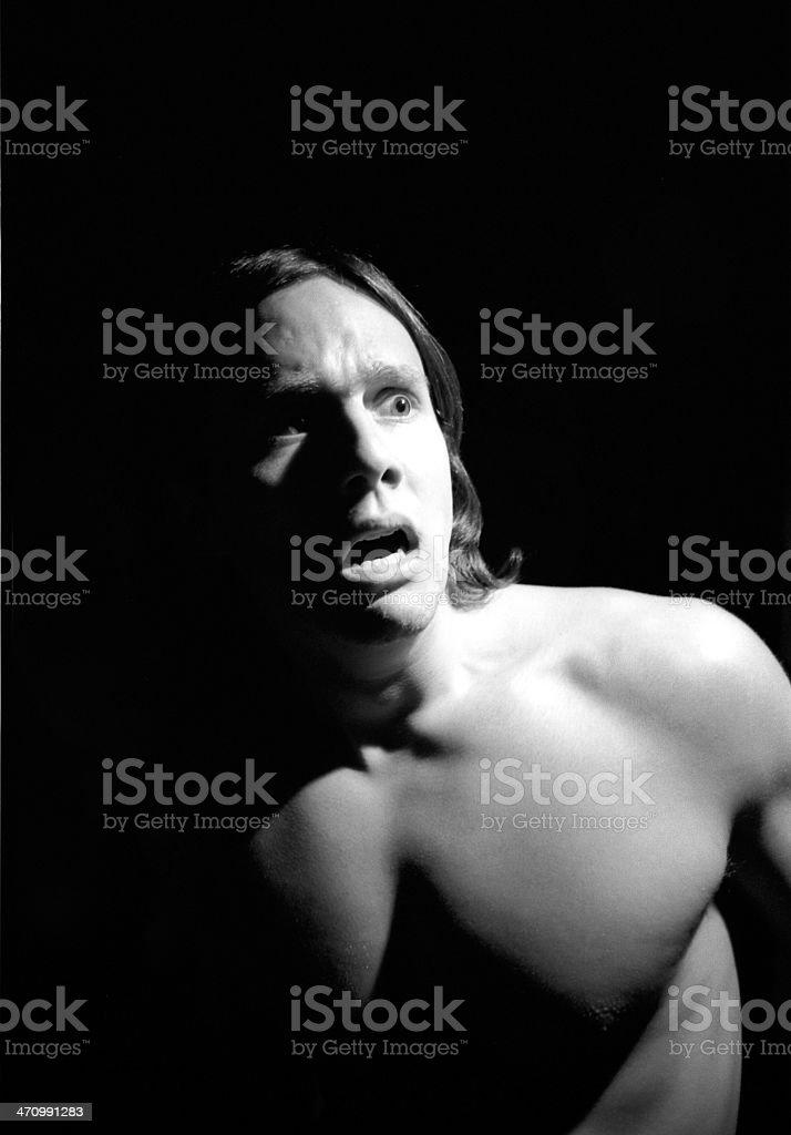 Man Fright 02 royalty-free stock photo