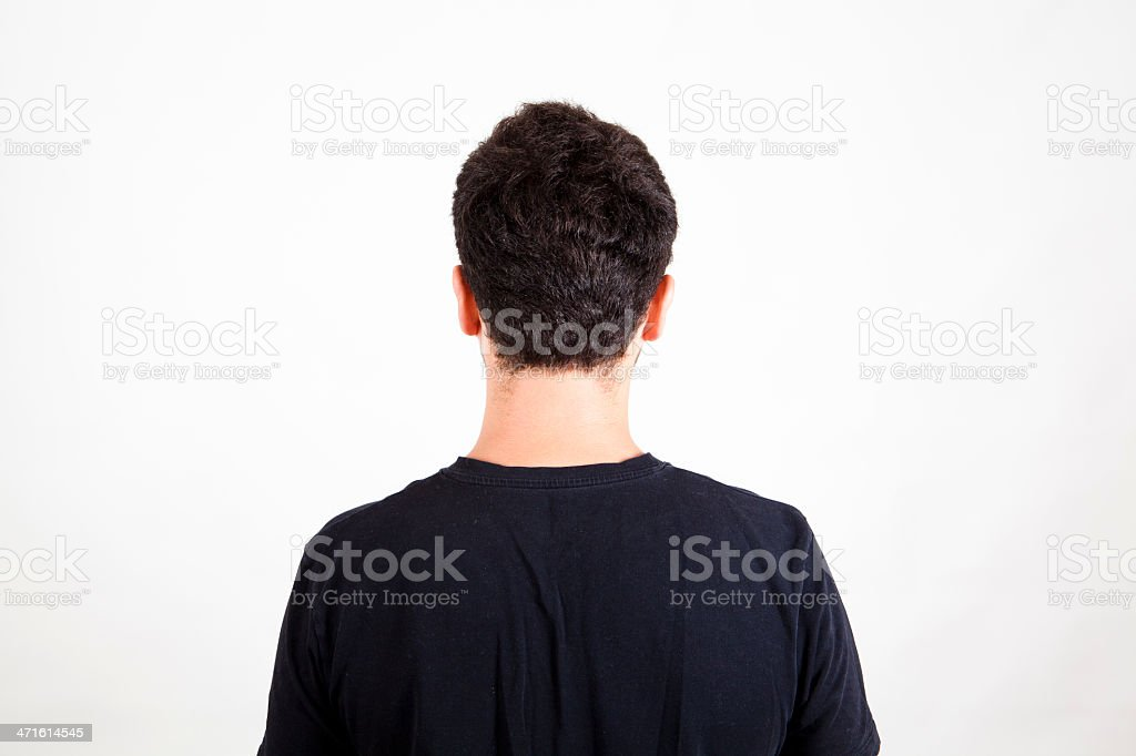 Man from back stock photo