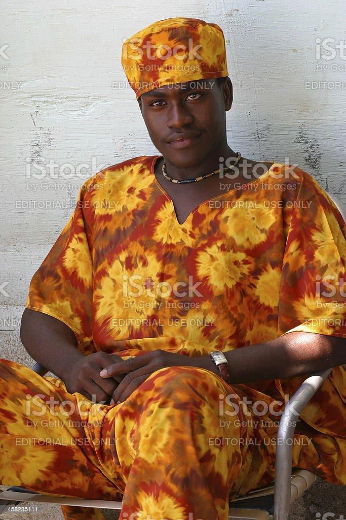 Man from Labadee Island royalty-free stock photo