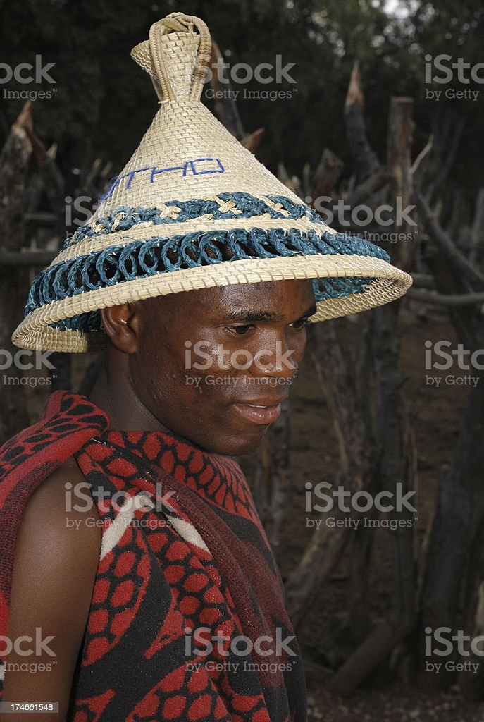 Man from Lesotho South Africa stock photo
