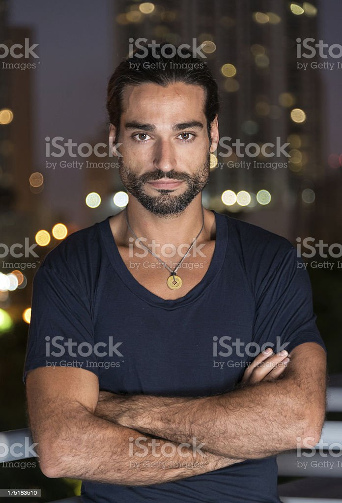 Man from Middle East stock photo