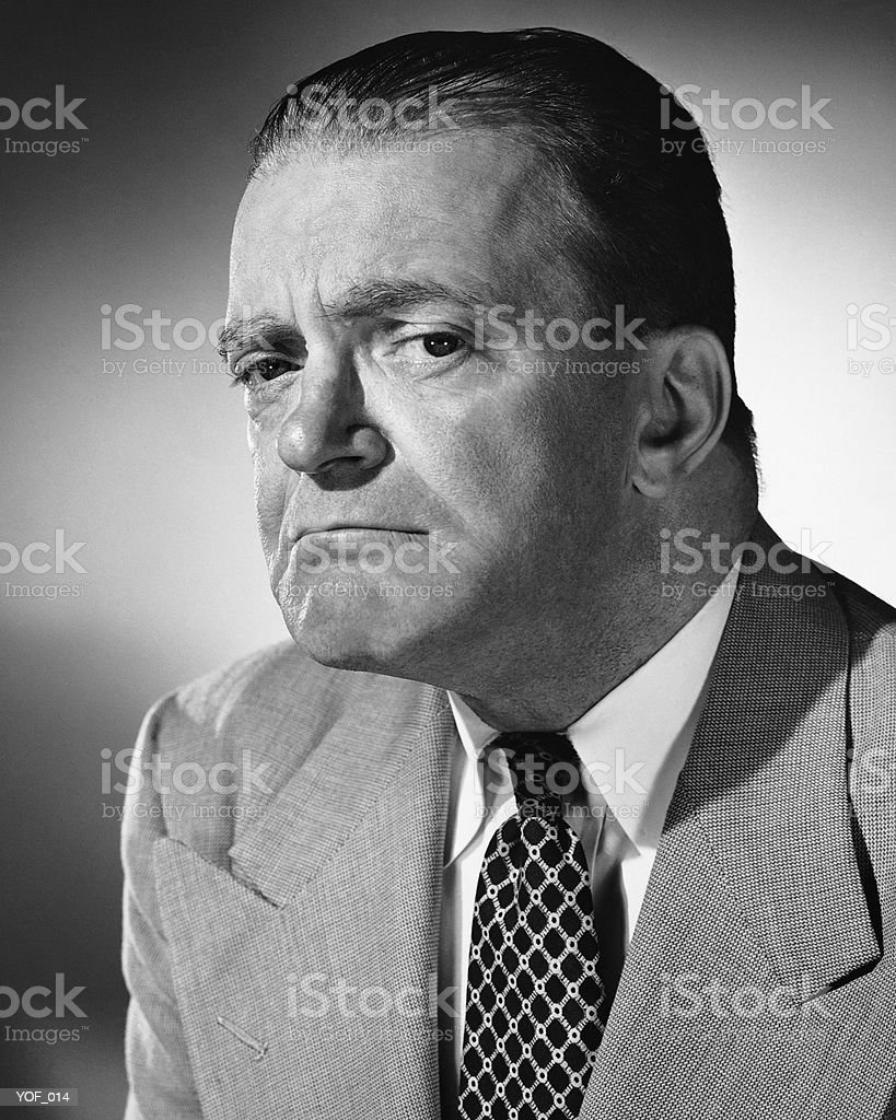 Man frowning royalty-free stock photo