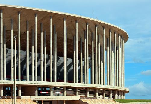 Mané Garrincha National Stadium - slim concrete columns, Brasilia, Brazil