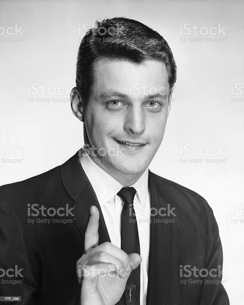 Man gesturing royalty-free stock photo