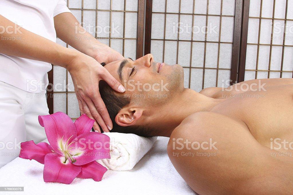 Man Getting Massage royalty-free stock photo
