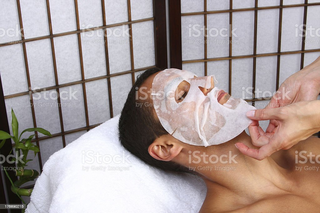 Man Getting Massage stock photo