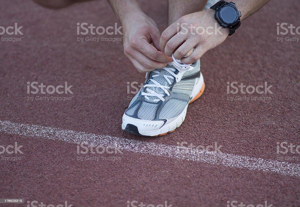 Man getting ready to run. royalty-free stock photo