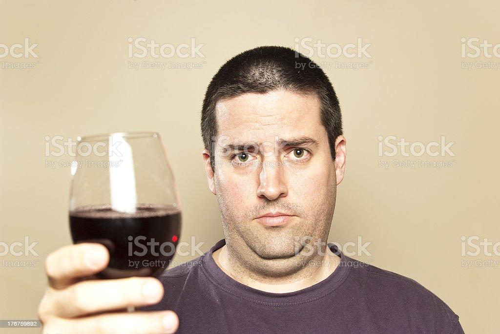 Man gives a toast stock photo