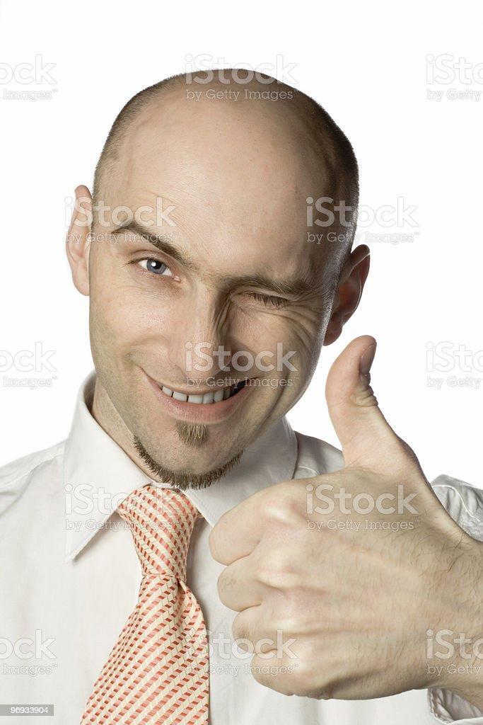 Man gives thumbs up royalty-free stock photo