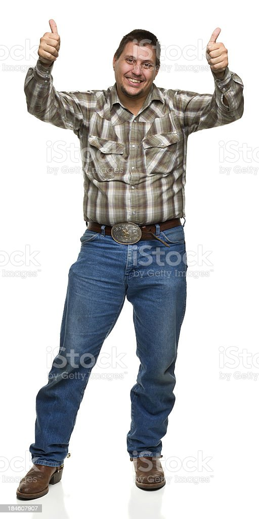 Man Gives Two Thumbs Up stock photo