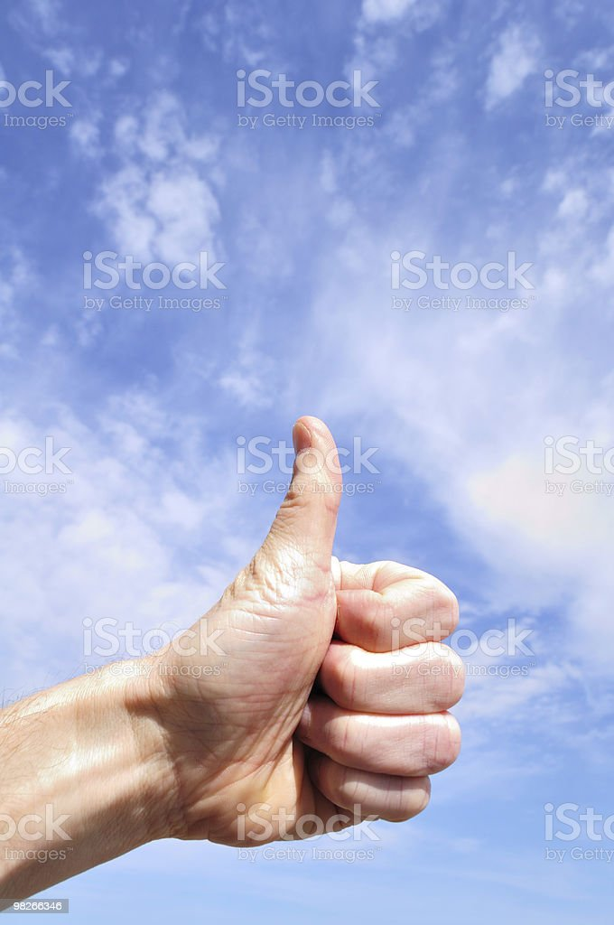 Man Giving Thumbs Up Sign royalty-free stock photo