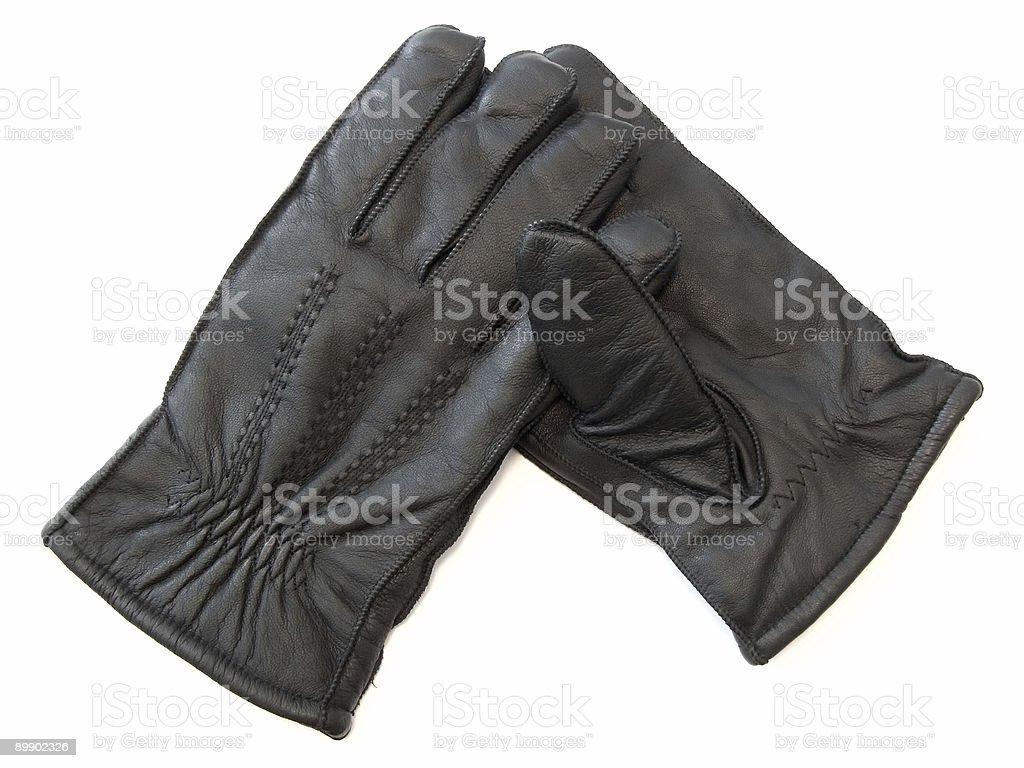 Hombre en guantes foto de stock libre de derechos