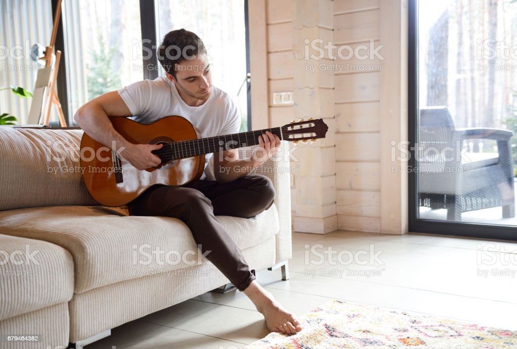 man going in for hobbies stock photo
