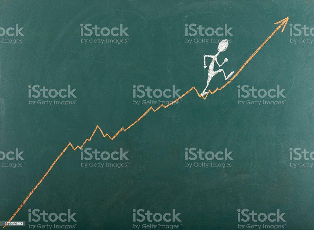 Man Going Toward Success royalty-free stock photo