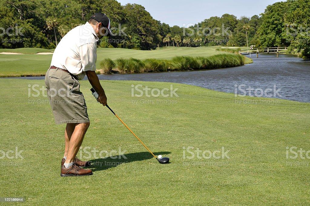man golfing on Hilton Head Island royalty-free stock photo