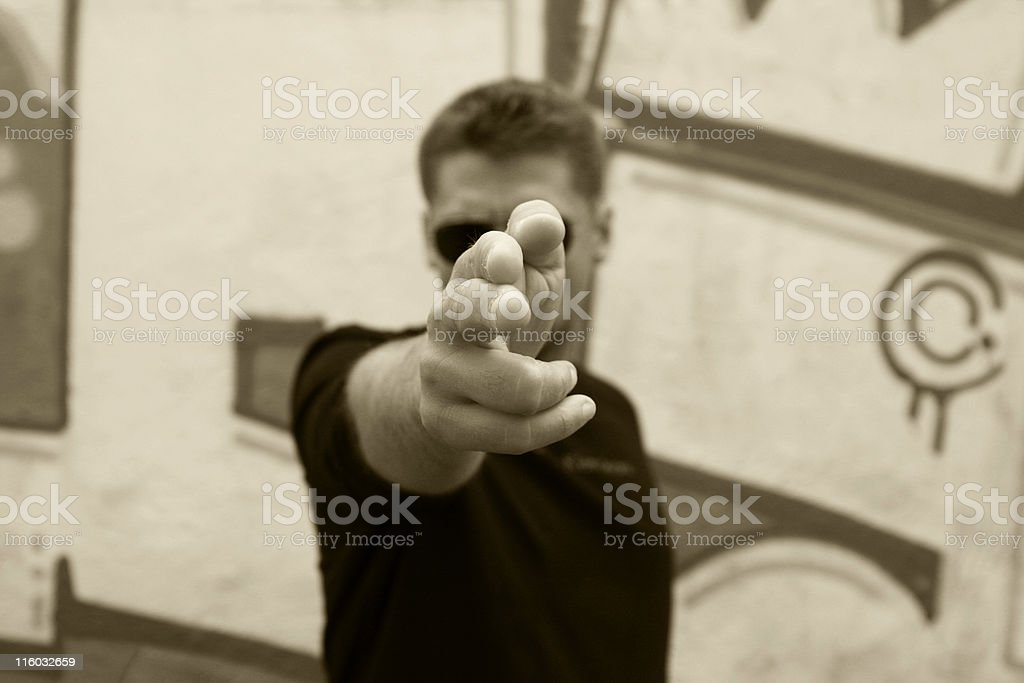 man gun royalty-free stock photo