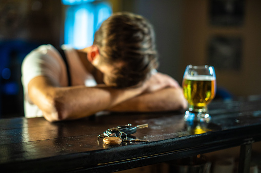 istock Man Had Too Much Drinks 1074986454