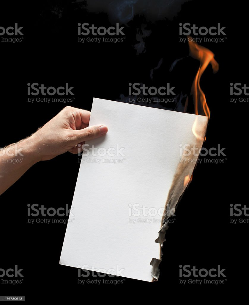 Image result for girl burning paper istock
