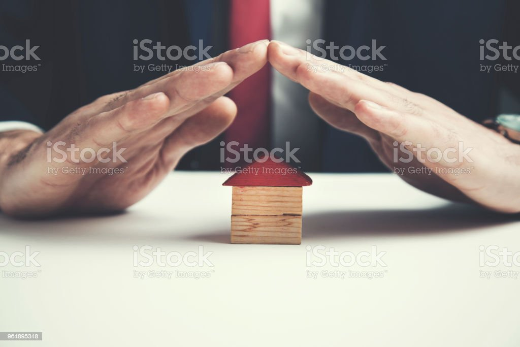 man hand house model royalty-free stock photo